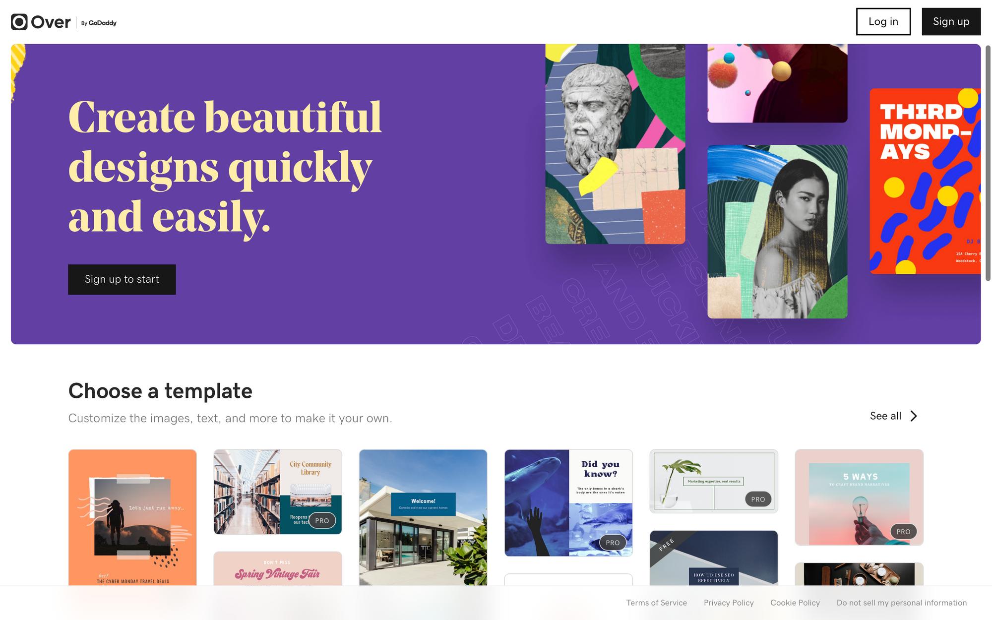 Графический редактор онлайн от GoDaddy