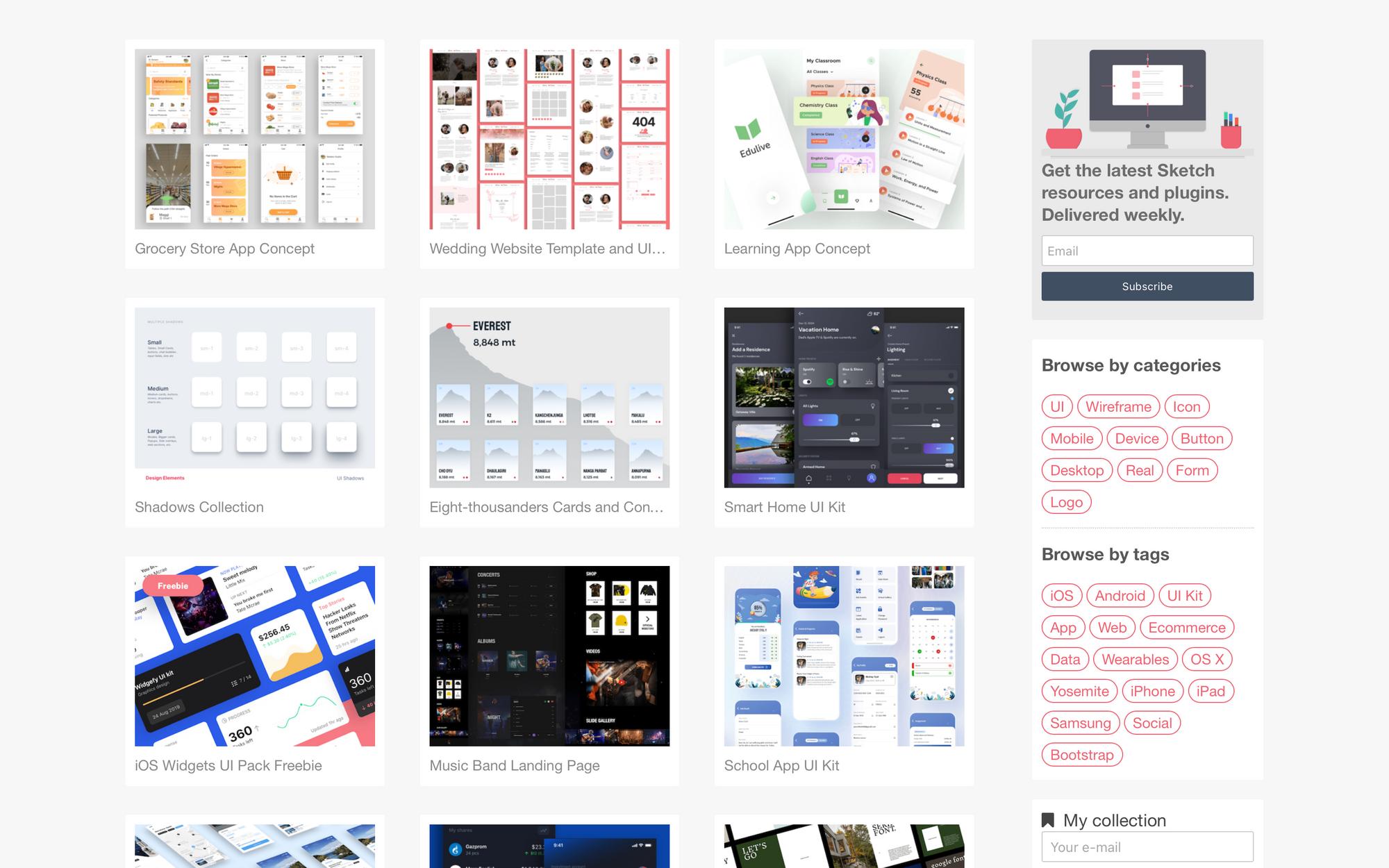 Бесплатные UI KIT шаблоны для Sketch скачать бесплатно