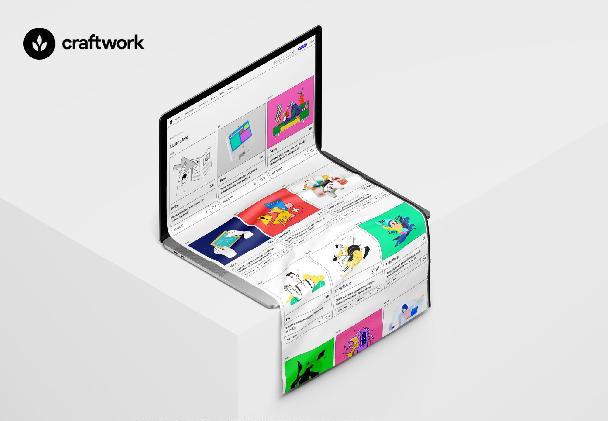 Craftwork - лучшая библиотека бесплатных и платных иллюстраций