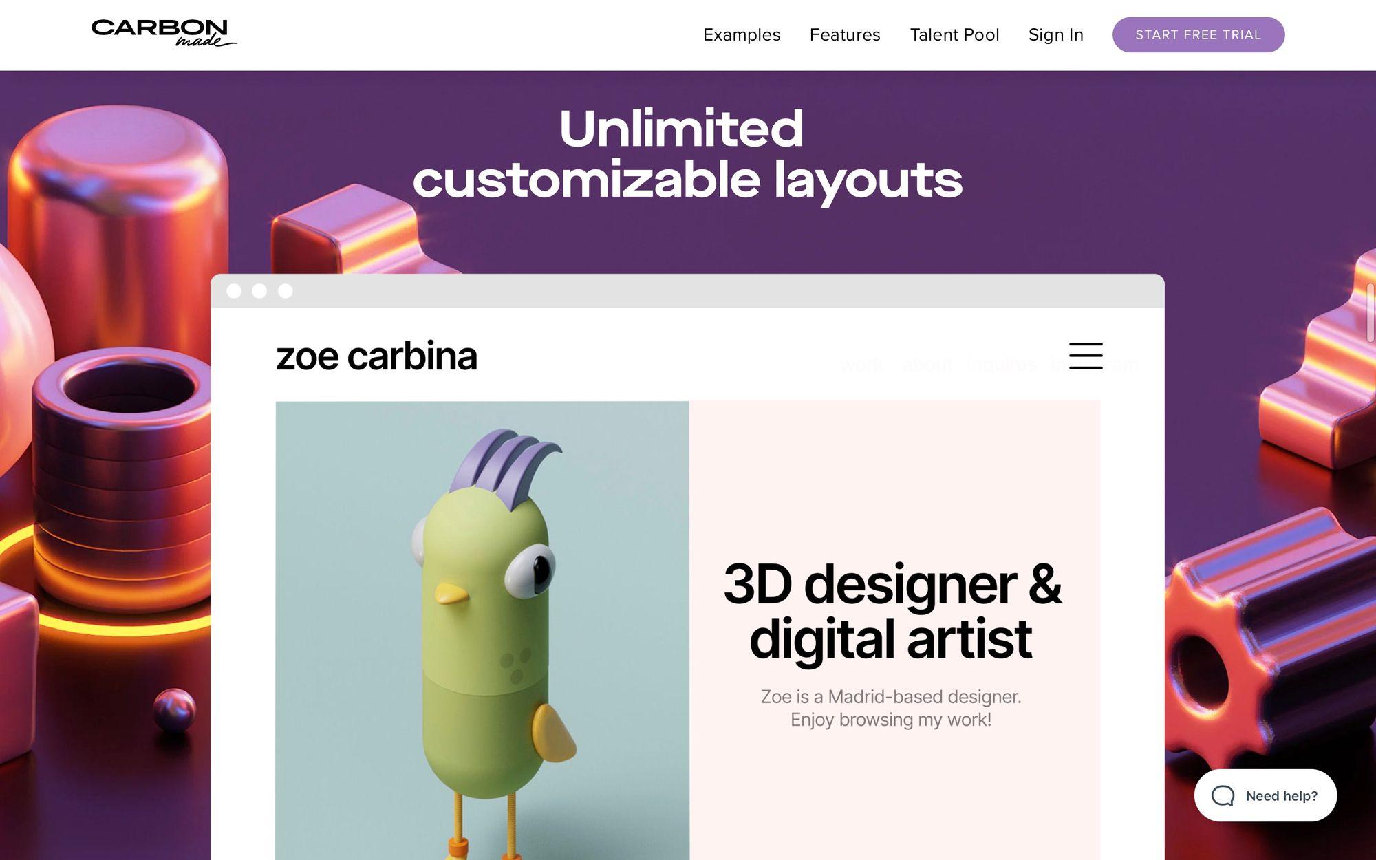 Сайт где можно разместить портфолио дизайнера, фотографа, аниматора