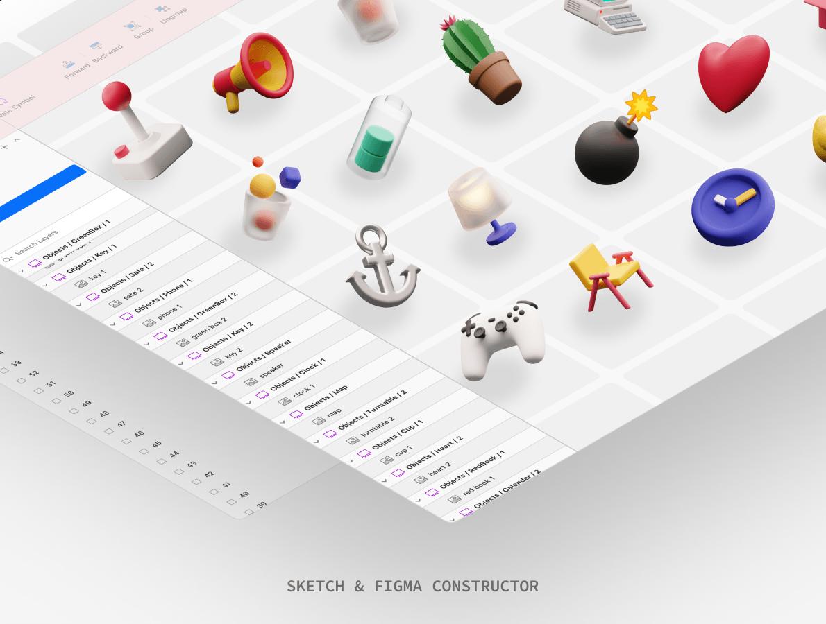3д иконки и иллюстрации для Android, iPhone, Web, UI, UX, 3d icons free